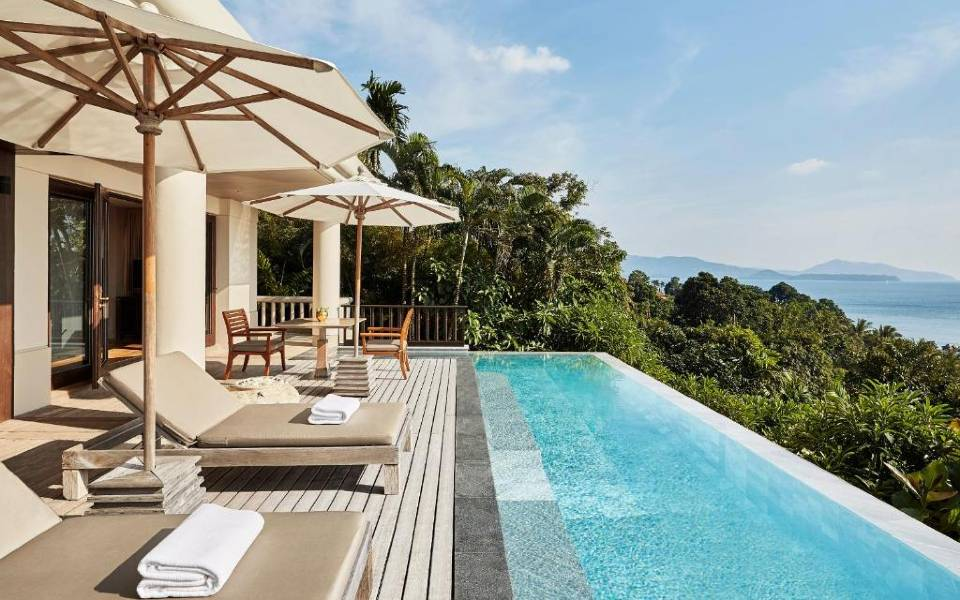 The Signature Pool Suite with Ocean View at the Trisara on Phuket, Thailand