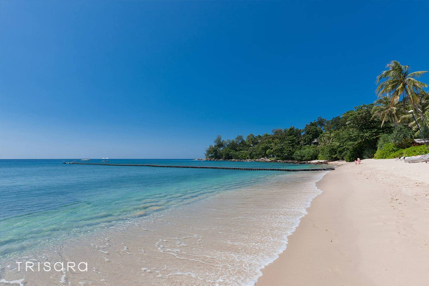 The private beach of Trisara on Phuket, Thailand