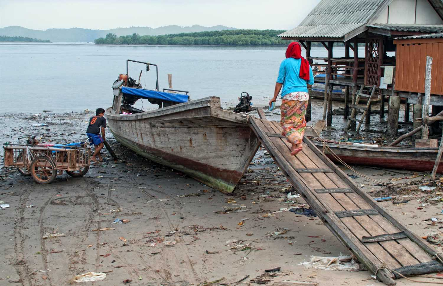 Fishing boat of the Urak Lawoi in Thailand
