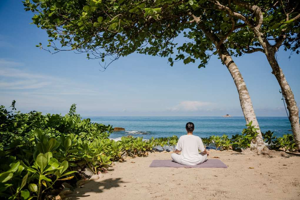 Yoga during your stay at Trisara on Phuket, Thailand
