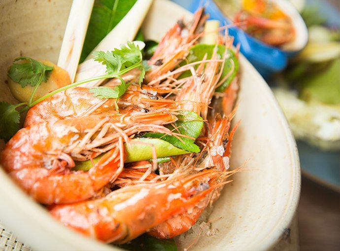 Delicious dishes at Seafood at Trisara on Phuket