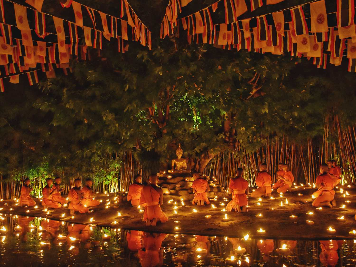 Wat Pan Toa in Chiang Mai during a Buddhist festival