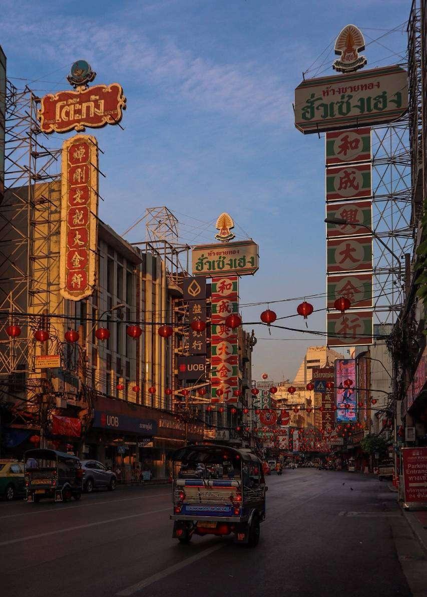 Neonborden in Chinatown, Bangkok