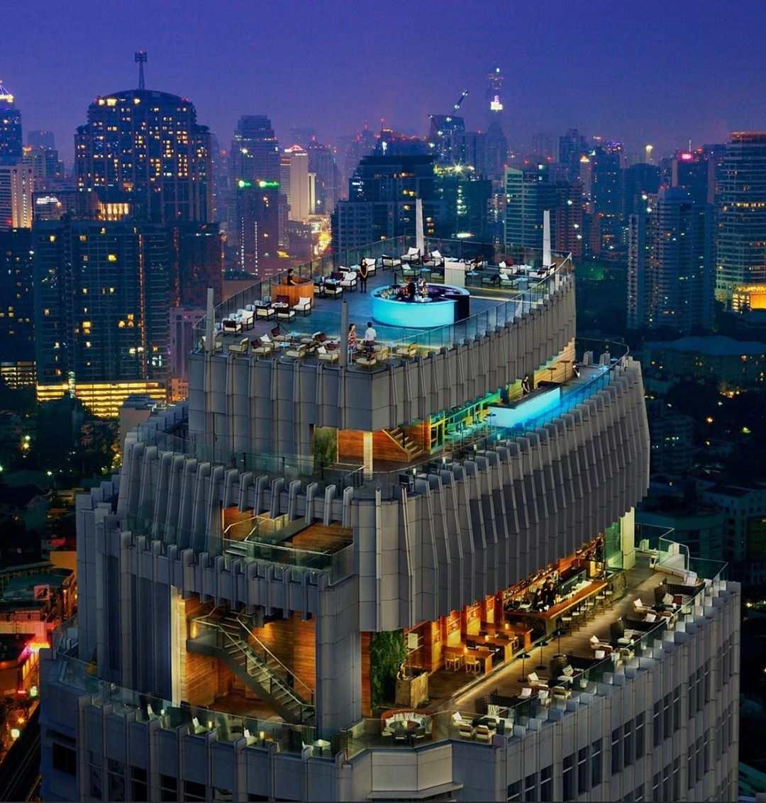 Uitzicht op Octave Rooftop Bar & Lounge van de Marriott in Bangkok