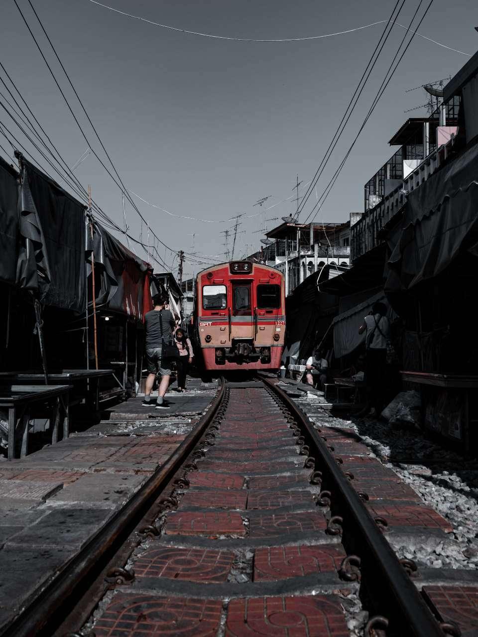 Train market in Samutsongkhrmk, Thailand