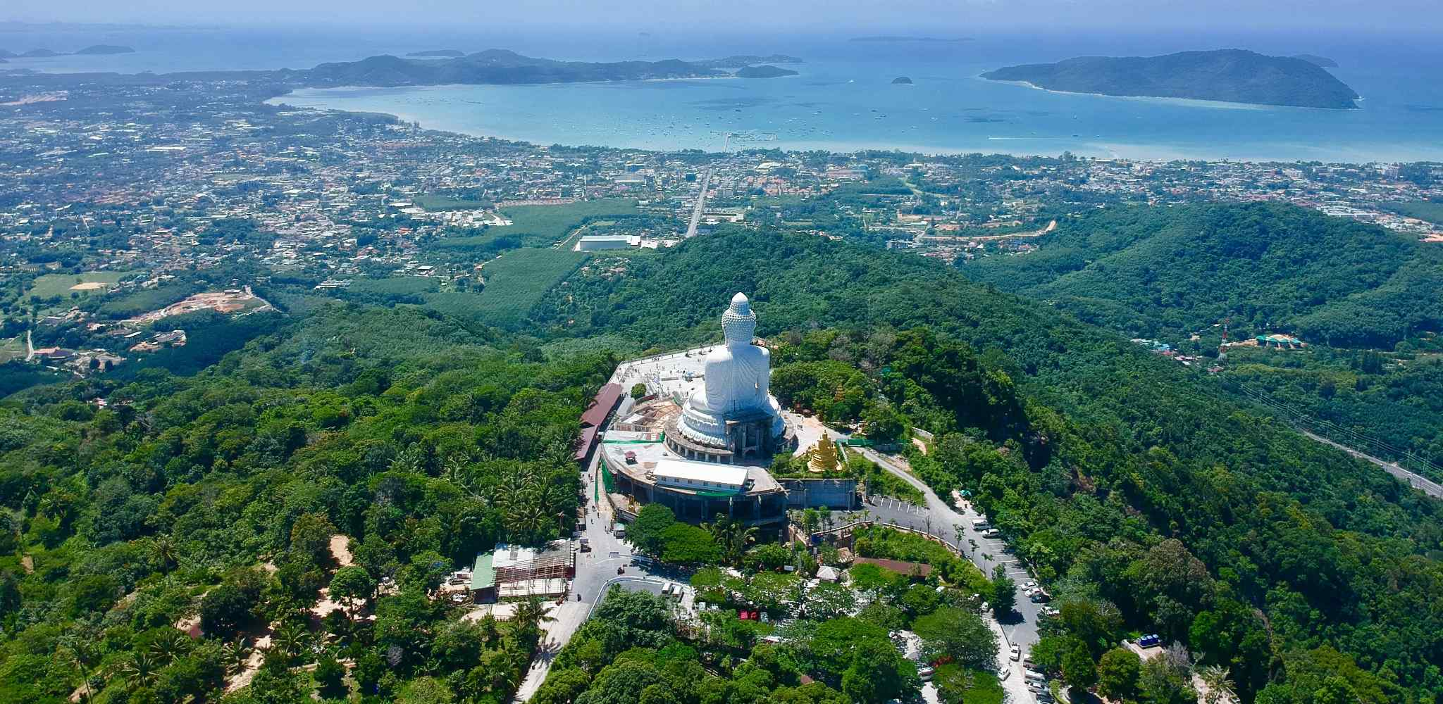 The Giant Buddha of Phuket with a view over the island