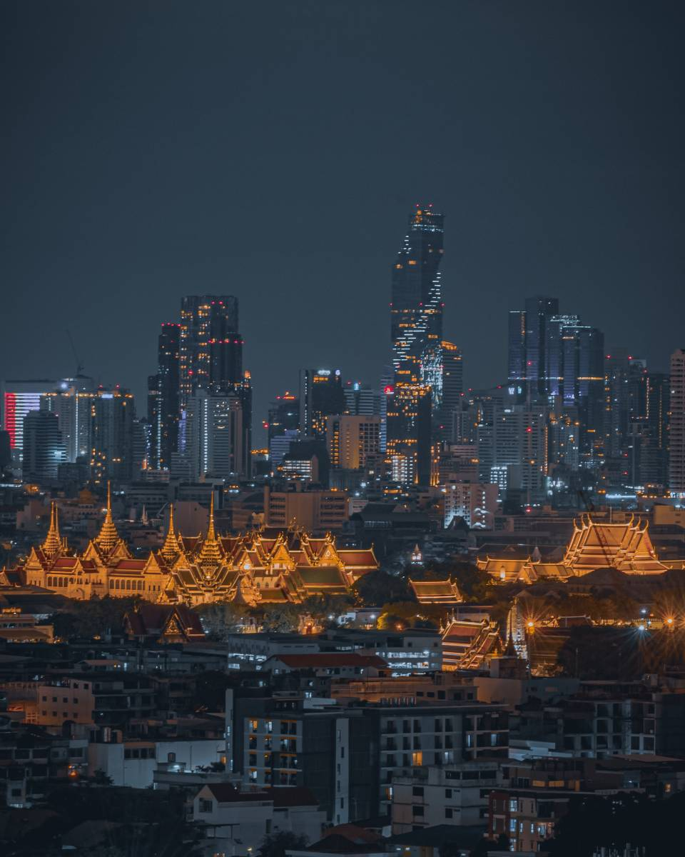 The Grand Palace in Old Town Bangkok