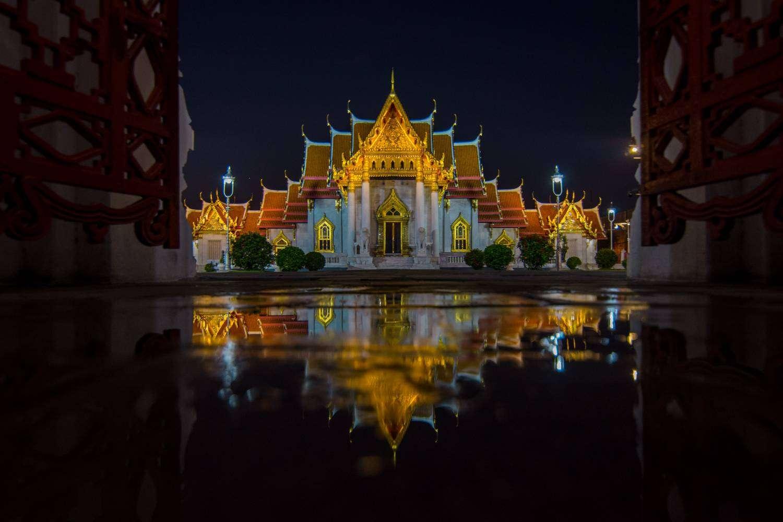 De Wat Benjamabopit in Bangkok, Thailand