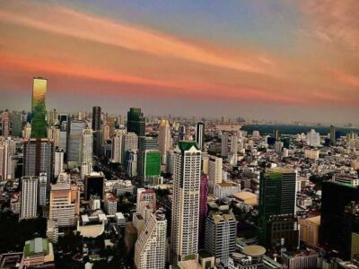 View Over The Sky Line Of Bangkok From Sirocco At Lebua