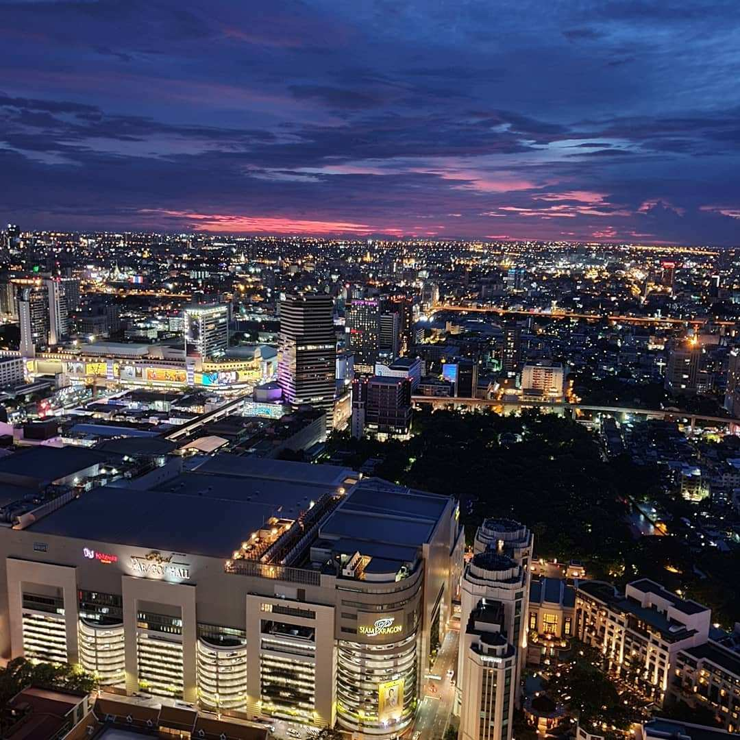 View of the Bangkok skyline from Red Sky Bar