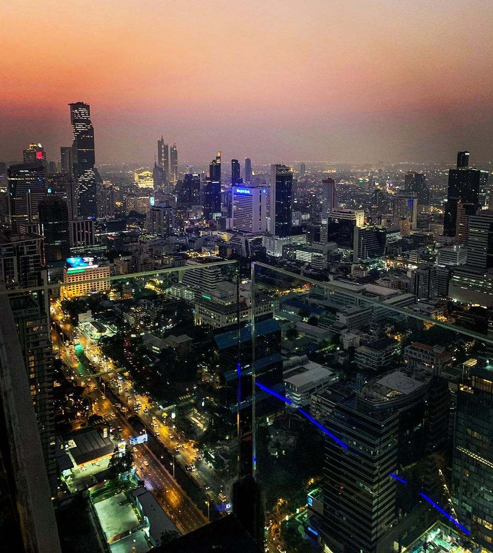 View over the Bangkok skyline from Vertigo Rooftop and Moon Bar
