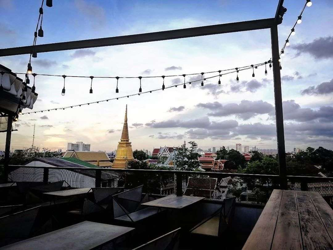 View from At-mosphere Rooftop Cafe in Old Town Bangkok