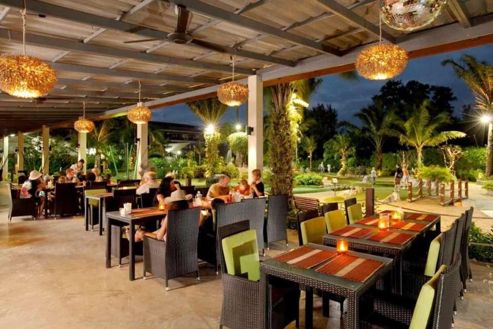 Off Course Restaurant of the Phuket Adventure Mini Golf near Bang Tao Beach on Phuket