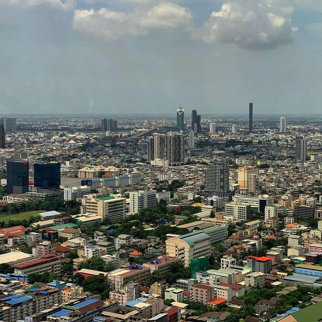 View of the Bangkok skyline as seen from Vertigo Rooftop and Moon Bar
