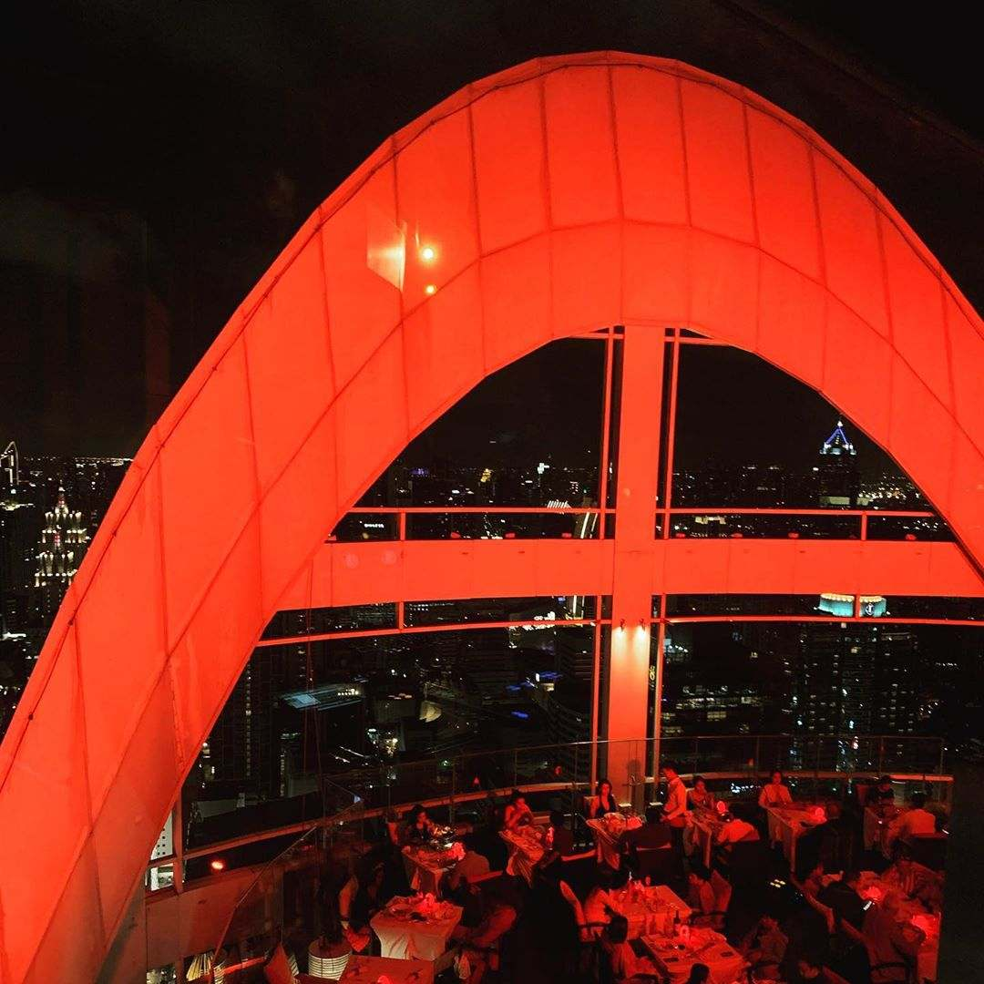 The red arch of Red Sky in the evening