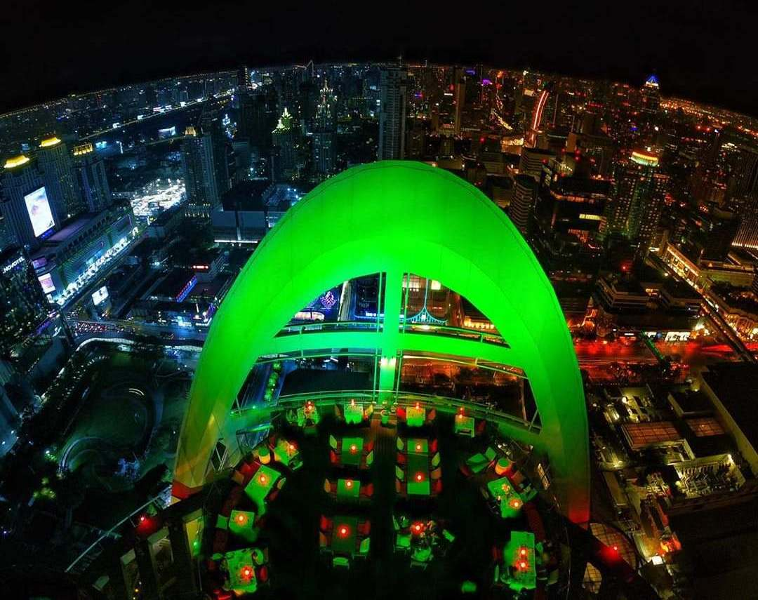 Green arch at Red Sky in the Siam Square area of Bangkok