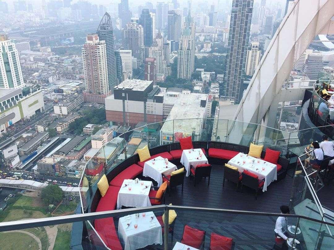 Seats at Red Sky in Bangkok