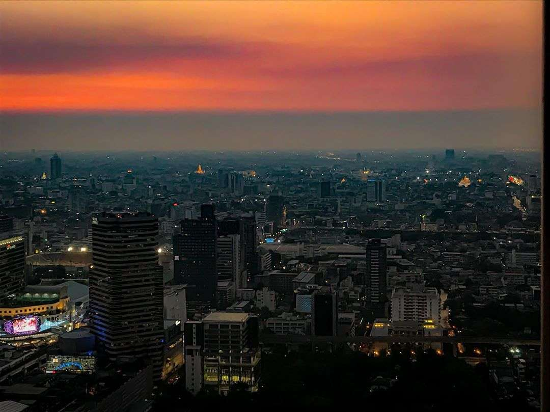 Red sky seen from Red Sky in Bangkok