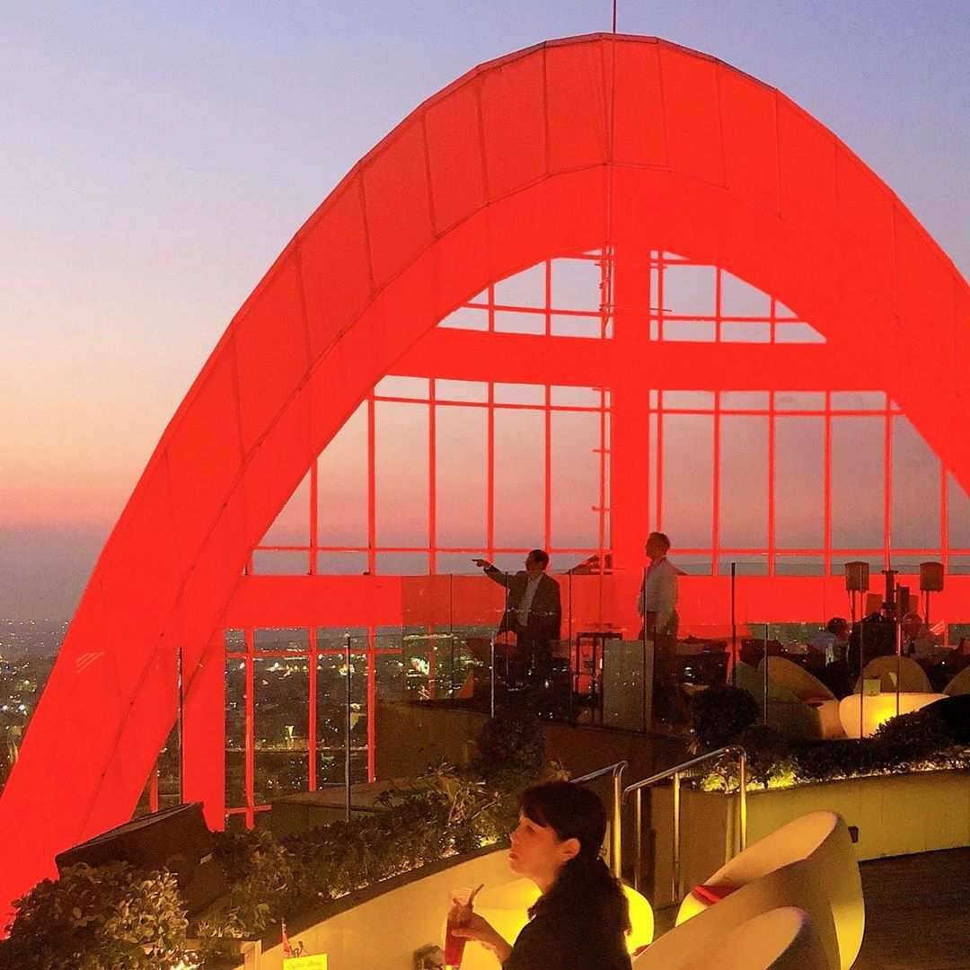 The Red Sky arch in Bangkok by day