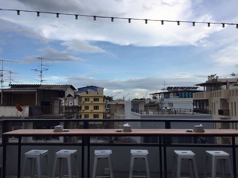 Stools at At-Mosphere Rooftop Cafe