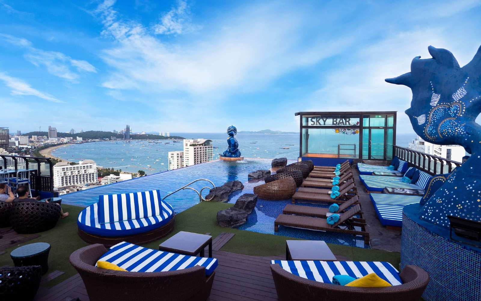 Sky Bar Siam@Siam Pattaya with pool and sea view