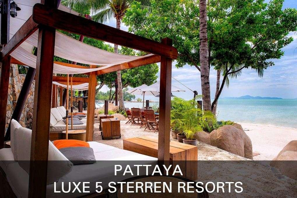 Pattaya luxe strandbedjes met uitzicht op zee