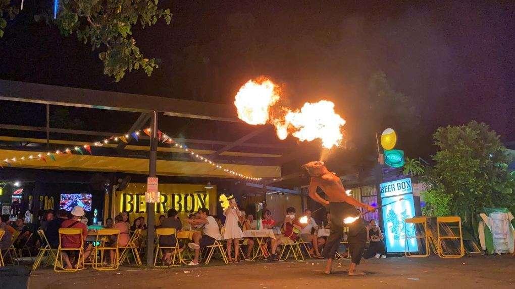Party at BeerBox Avenue near Bang Tao Beach on Phuket
