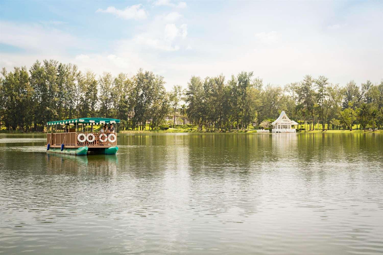 Shuttle boat from the Banyan Tree Resort on a lagoon near Bang Tao Beach on Phuket