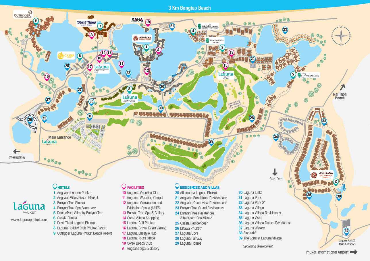 Map of Laguna Phuket