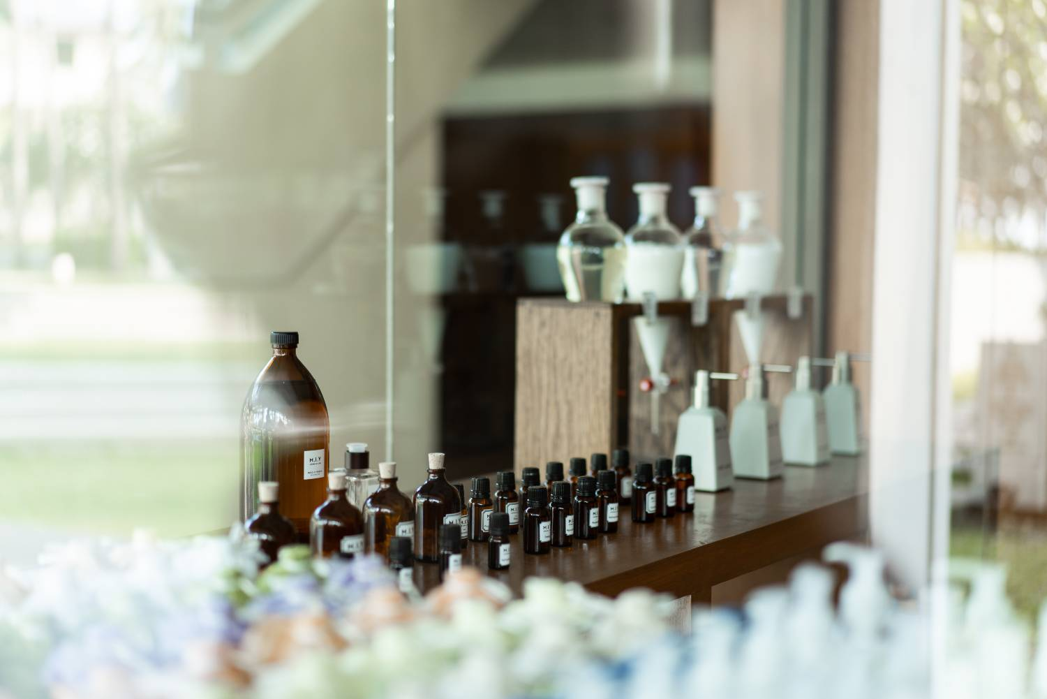 Choose from what scents you want in your bathroom at the Saii Laguna Phuket