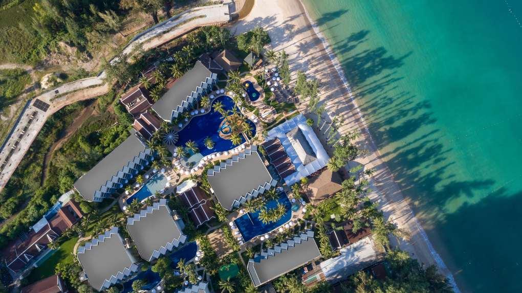 Sunwing Bang Tao seen from the air