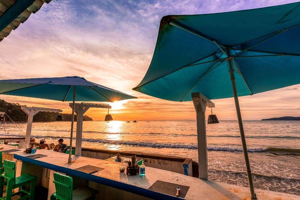 Sunset at The Beach Cuisine at Bang Tao Beach on Phuket
