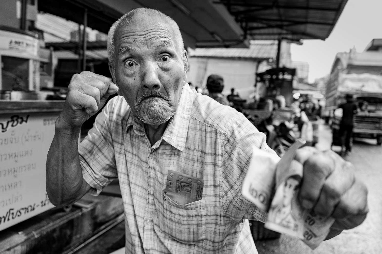 Gepensioneerde Muay Thai vechter