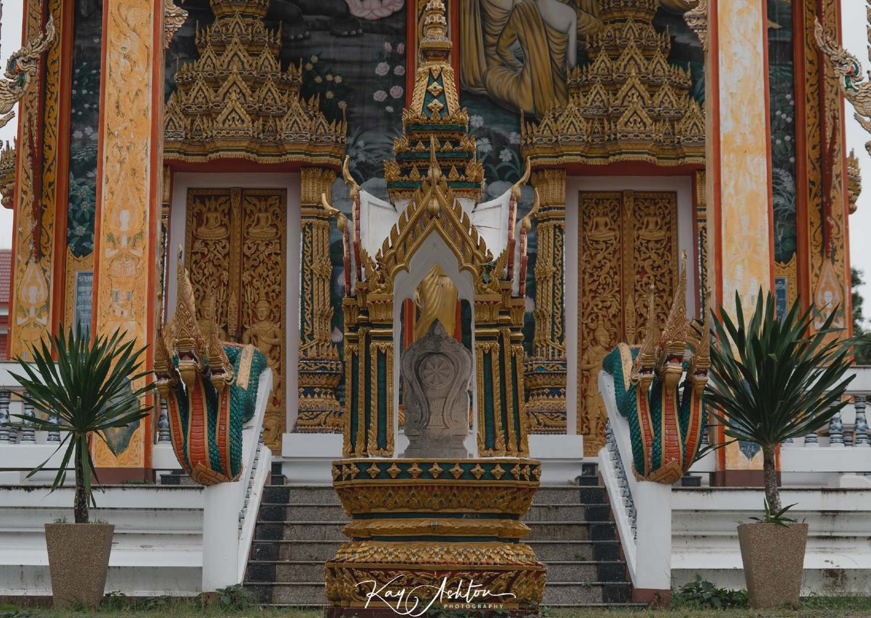The Wat Choeng Thale temple near Bang Tao Beach on Phuket