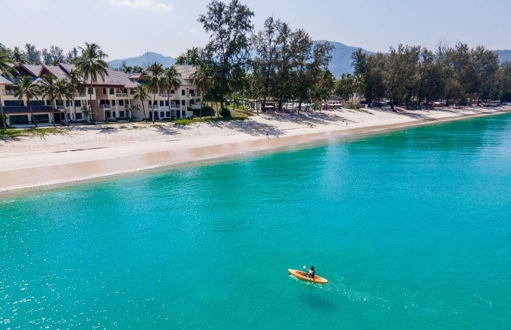 Kayaking across the sea from Bang Tao Beach on Phuket
