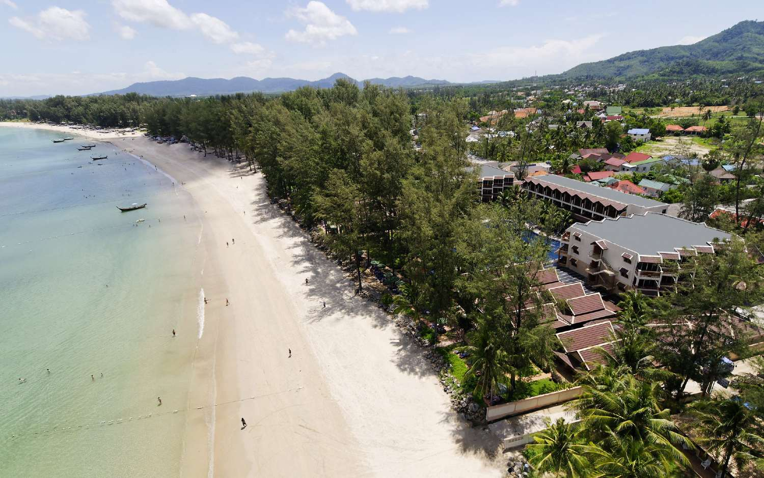 The south end of Bang Tao Beach at the Best Western Resort on Phuket