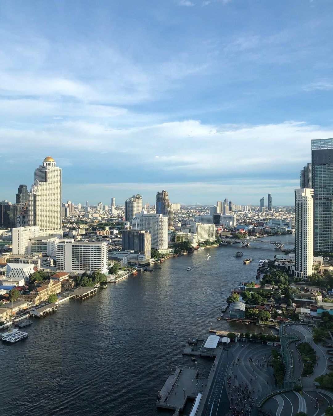Uitzicht vanaf ThreeSixty Jazz Lounge and Rooftop Bar (Millennium Hilton Bangkok)