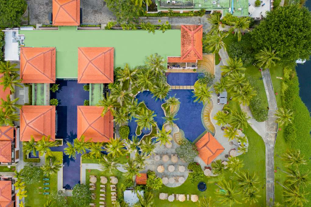 Accommodations of Banyan Tree Phuket near Bang Tao Beach