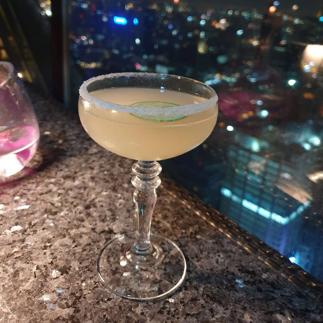 Cocktail at Vertigo Rooftop and Moon Bar in Bangkok