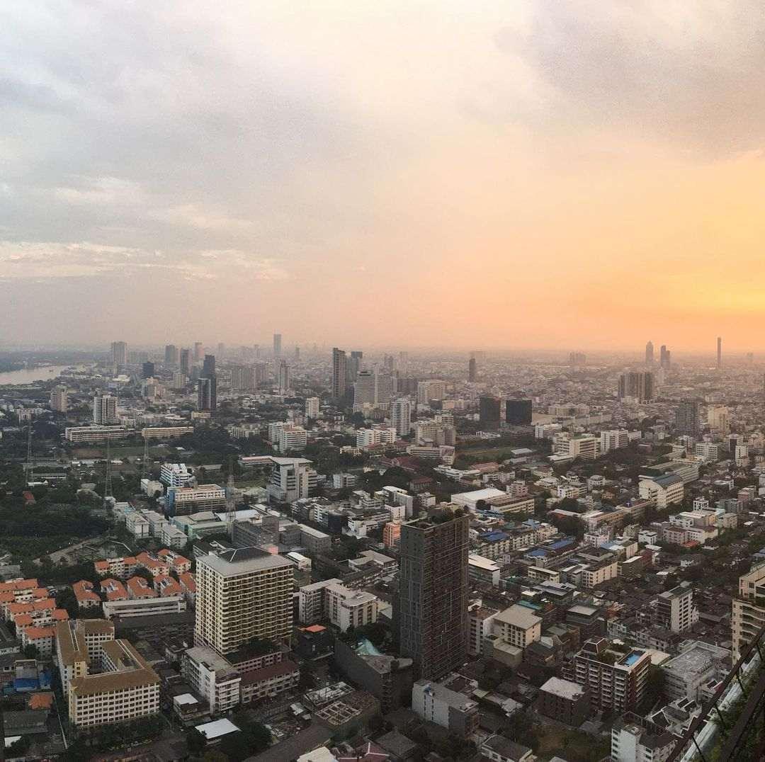 View over Bangkok's skyline from Vertigo Rooftop and Moon Bar on the Banyan Tree