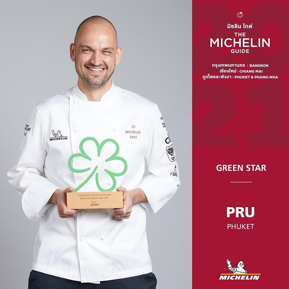 Jim Ophorst van PRU met de Green Star 2021