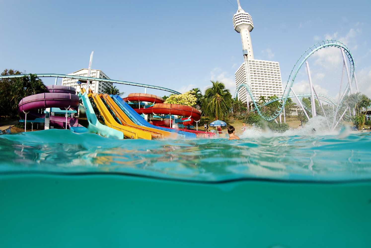 Water park with slides in Pattaya