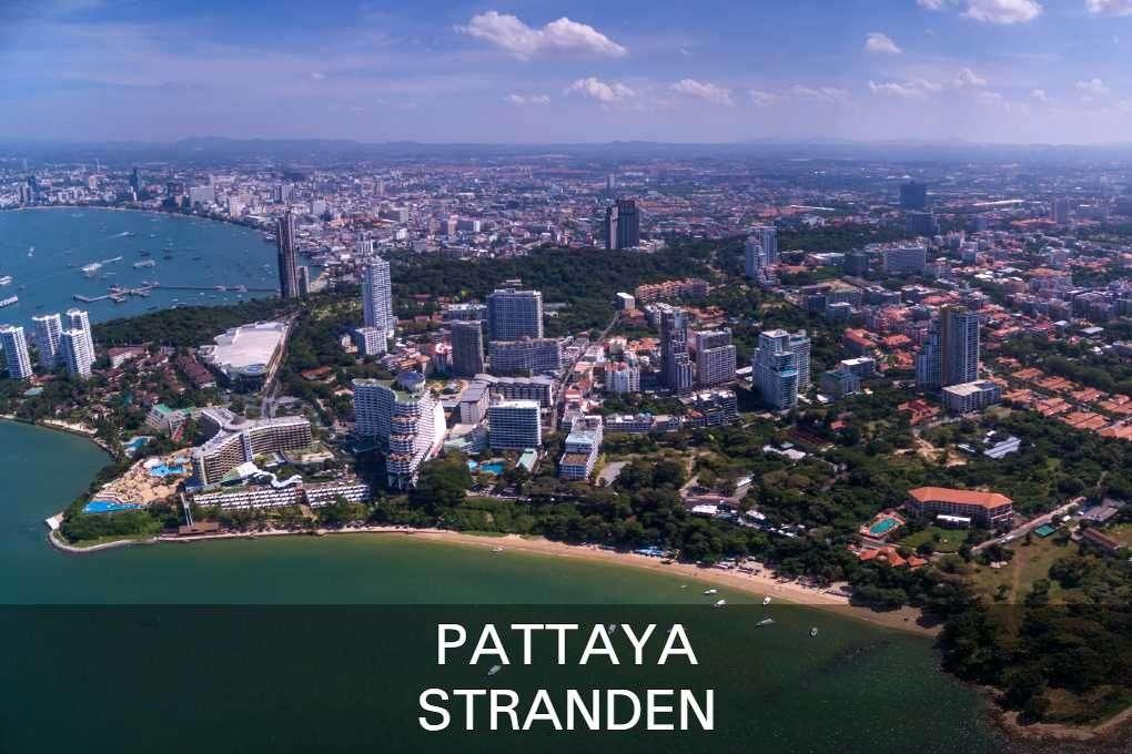 Stranden Pattaya luchtfoto