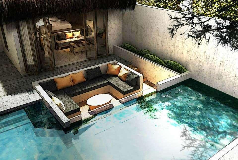 Villa met prive zwembad en terras aan zee