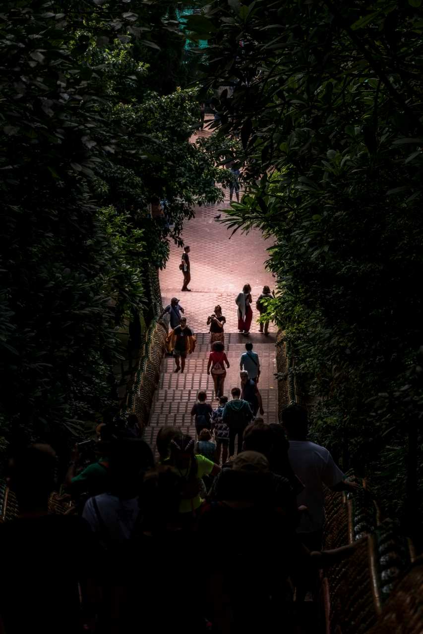 The steps of the Wat Phrathat Doi Suthep in Chiang Mai, Thailand
