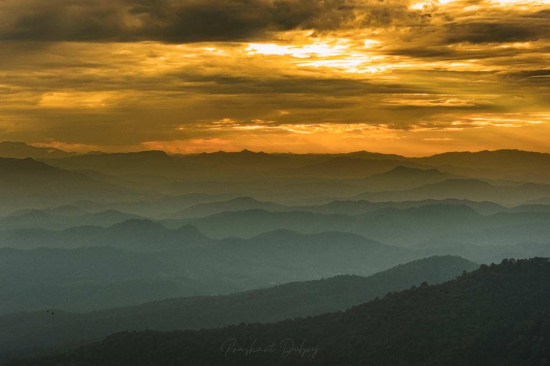 Doi Pui Viewpoint in de Chiang Mai province van Thailand