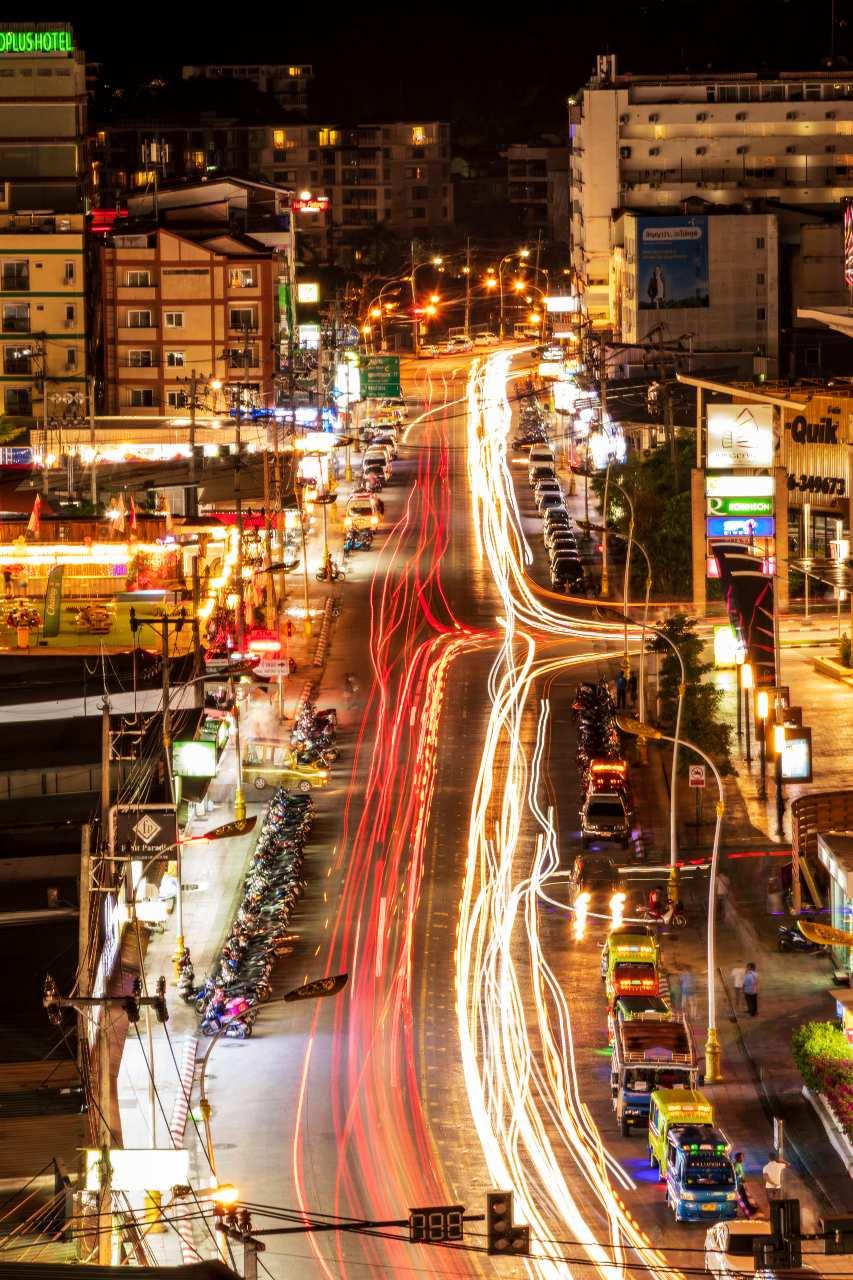 Traffic in Phuket Town