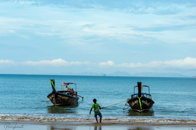 Fisherman on Tonsai Beach, Krabi