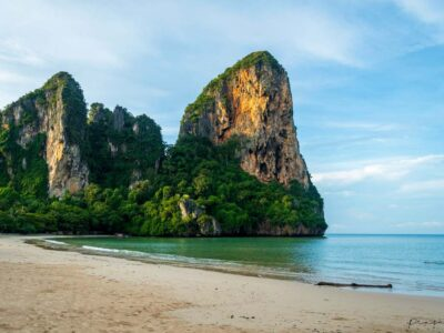 The Karst Cliffs Of Railay West In Krabi Province, Thailand