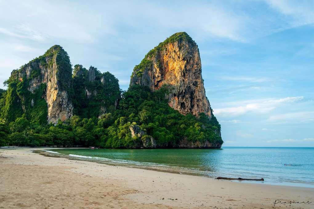 The karst cliffs of Railay west in Krabi province, Thailand
